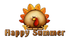 Happy Summer - ThanksgivingCuteTurkey
