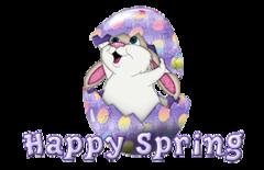 Happy Spring - CuteEasterBunnyInEgg