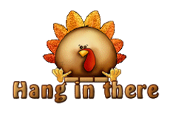 Hang in there - ThanksgivingCuteTurkey