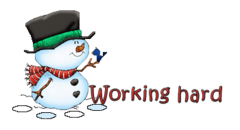 Working hard - Snowman&Bird
