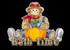 Bath Time - AutumnScarecrowSitting