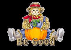Be Good - AutumnScarecrowSitting
