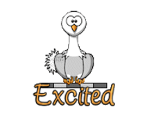 Excited - OstrichWithBlinkie