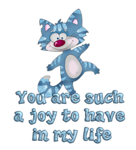 You are such a joy to have in my life - DancingCat