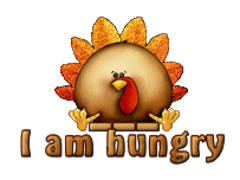 I am hungry - ThanksgivingCuteTurkey