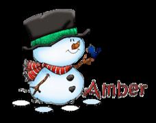 Amber - Snowman&Bird