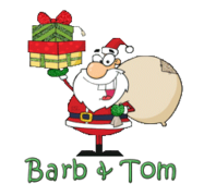 Barb & Tom - SantaDeliveringGifts