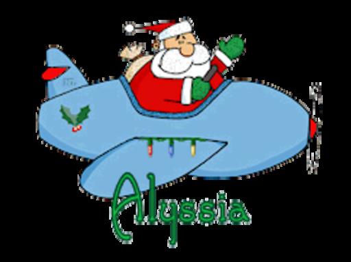 Alyssia - SantaPlane