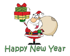 Happy New Year - SantaDeliveringGifts