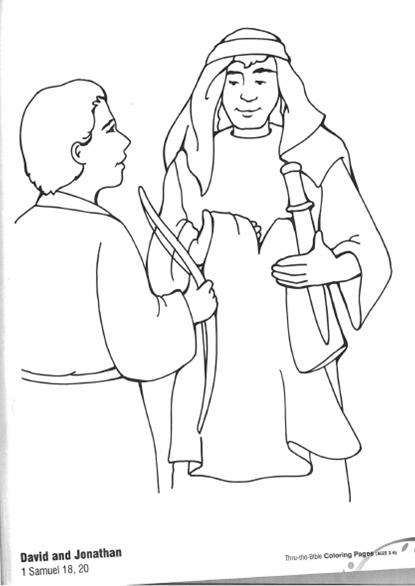 Photo David And Jonathan Coloring Pages Album Mrshane David And Jonathan Coloring Page