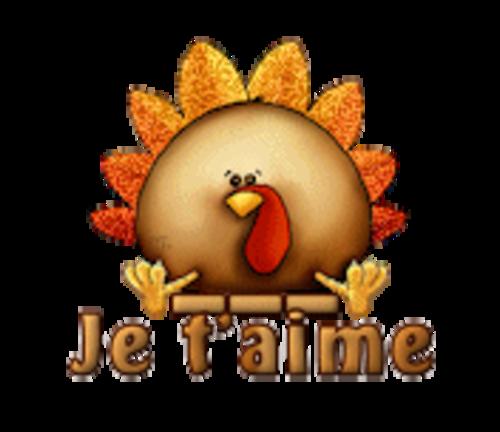 Je t'aime - ThanksgivingCuteTurkey