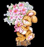 Hugs - BunnyWithFlowers