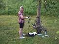 Toon macht sein Rad startklar