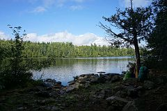 Small lake connected to Alder Lake