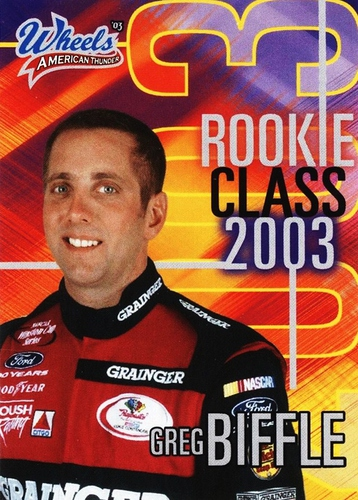 2003 American Thunder Rookie Class expired redemption Greg Biffle (1)