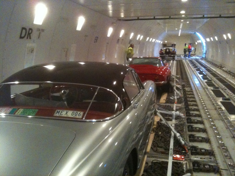 Cars in plane