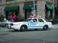 NYPD Highway Patrol unit running the traffic break