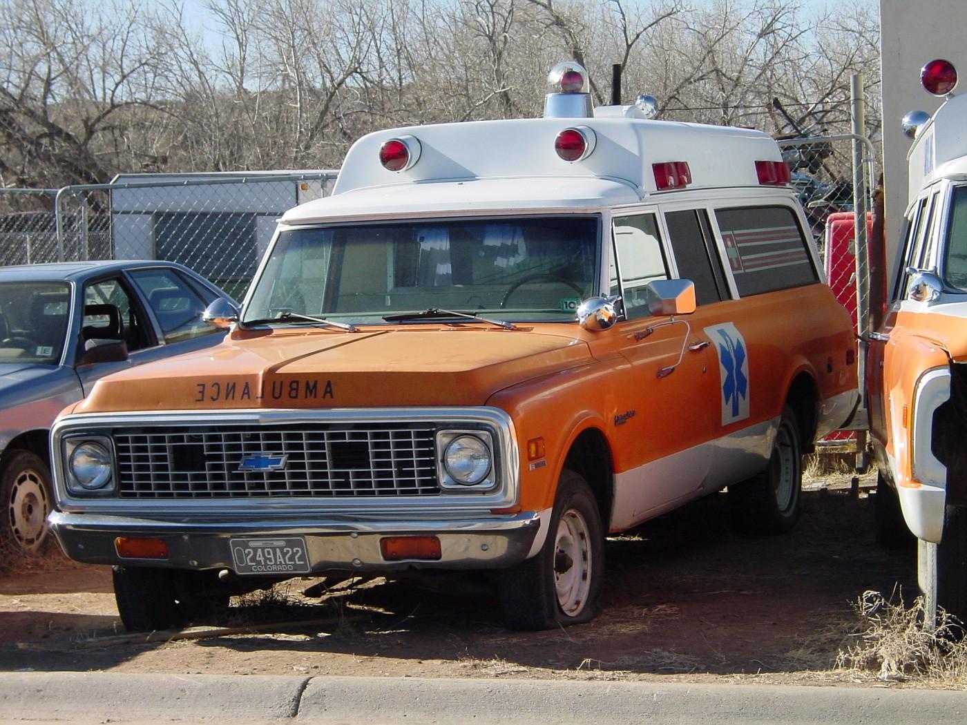 CO - Chevy ambulance (72) in a Colorado boneyard
