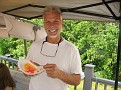 Never had Water Ice Cream Cake before,,,  I liked it...  Orange and watermelon water ice with vanilla ice cream!!!