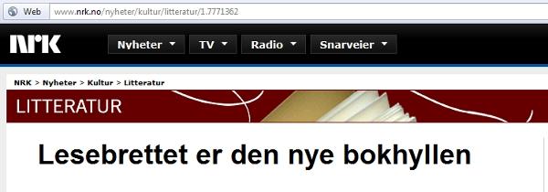 NRK skjermdump