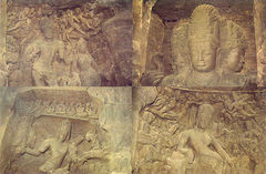 India - Elephanta Rock Carving