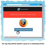 Internet Explorer - Weekly comic about web developers, software and browsers