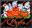 3 Ghosts & pumpkinChris