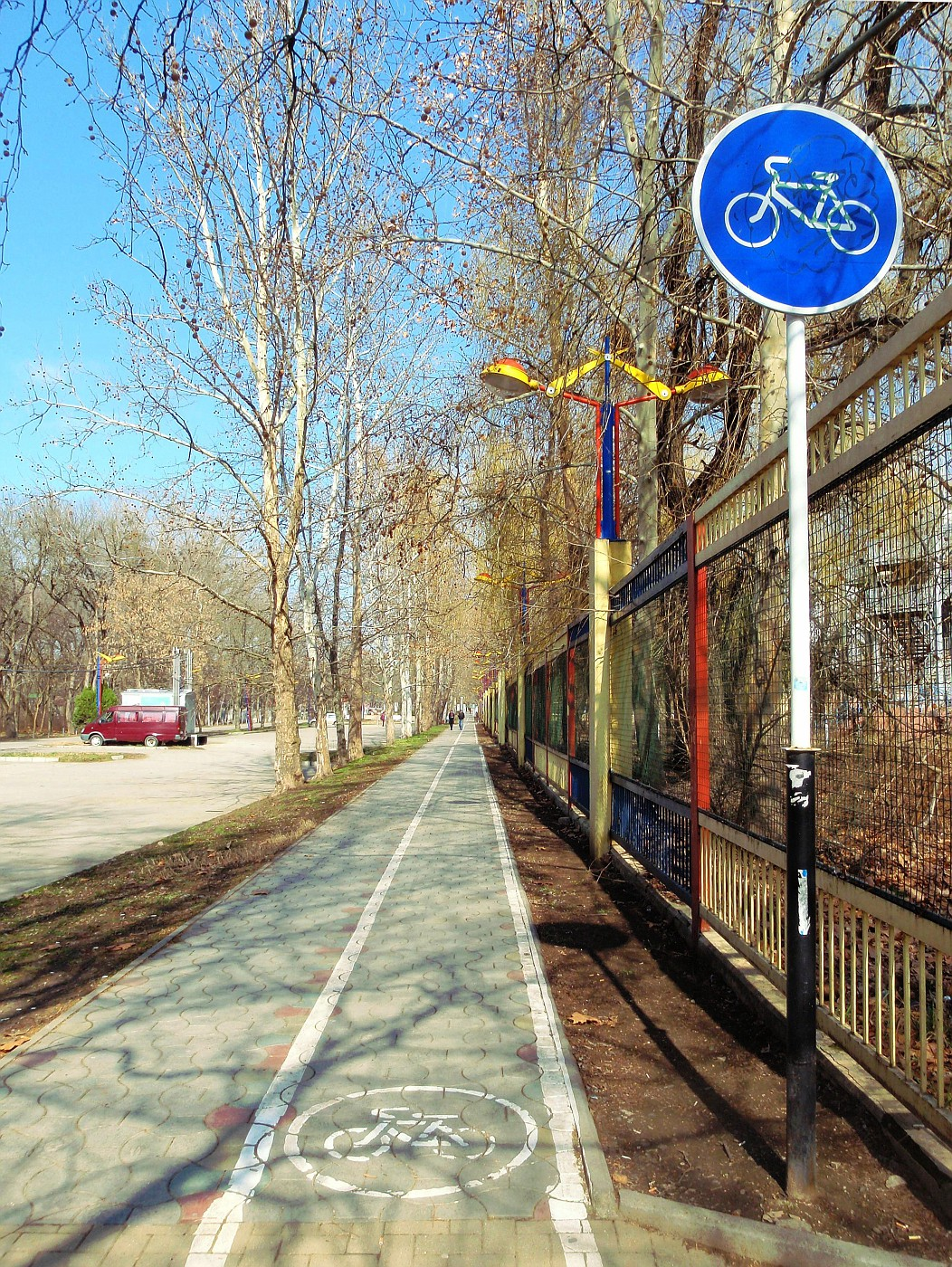 In Krasnodar there are cycle tracks!