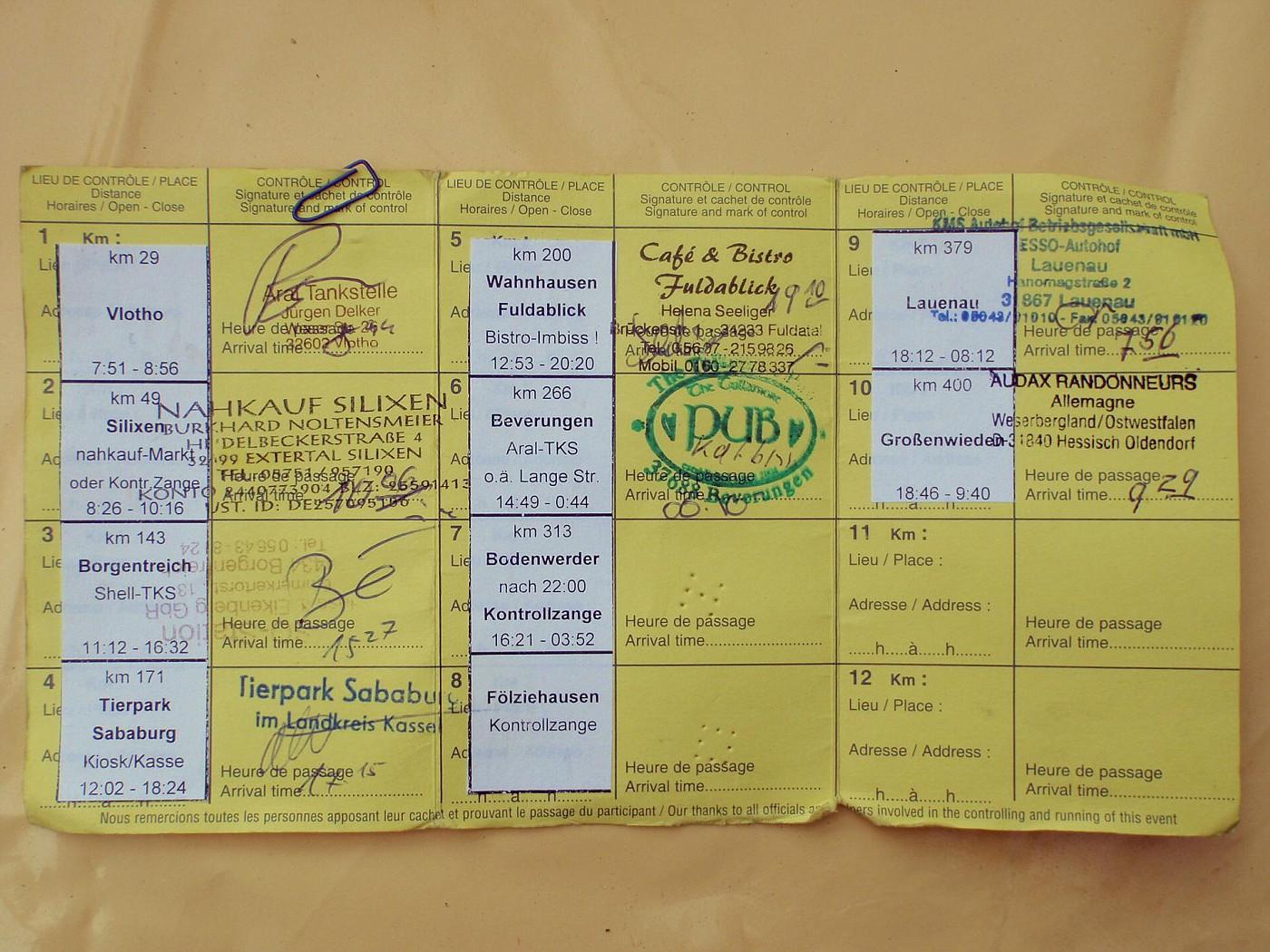 400 km Brevet 01.06.2013