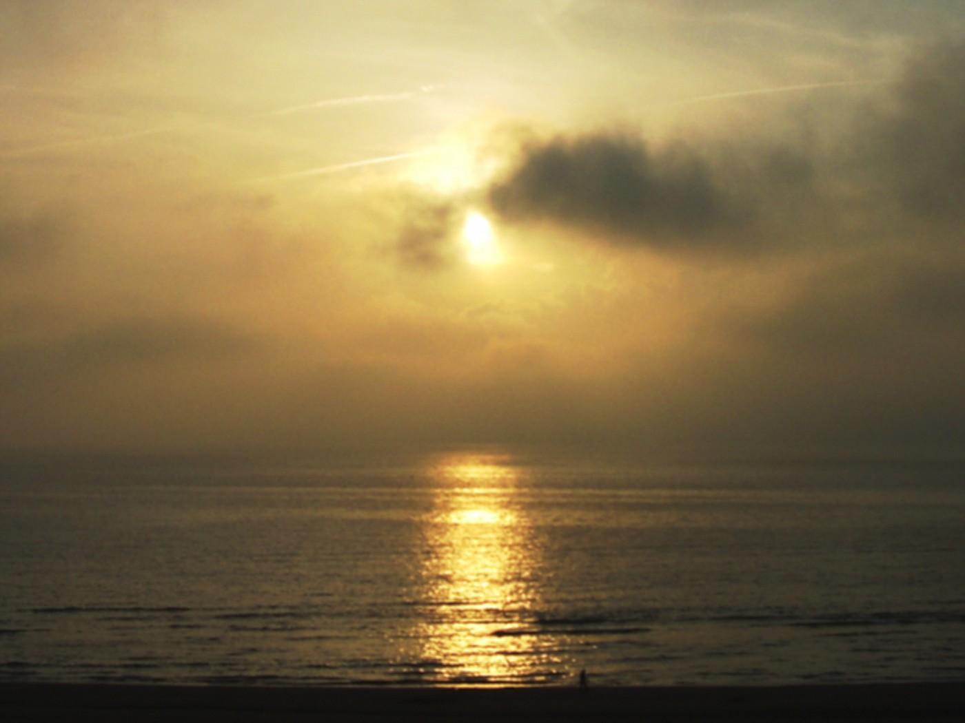 Sunset at Zandvoort beach