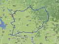 "Route of the brevet ""White Nights"""