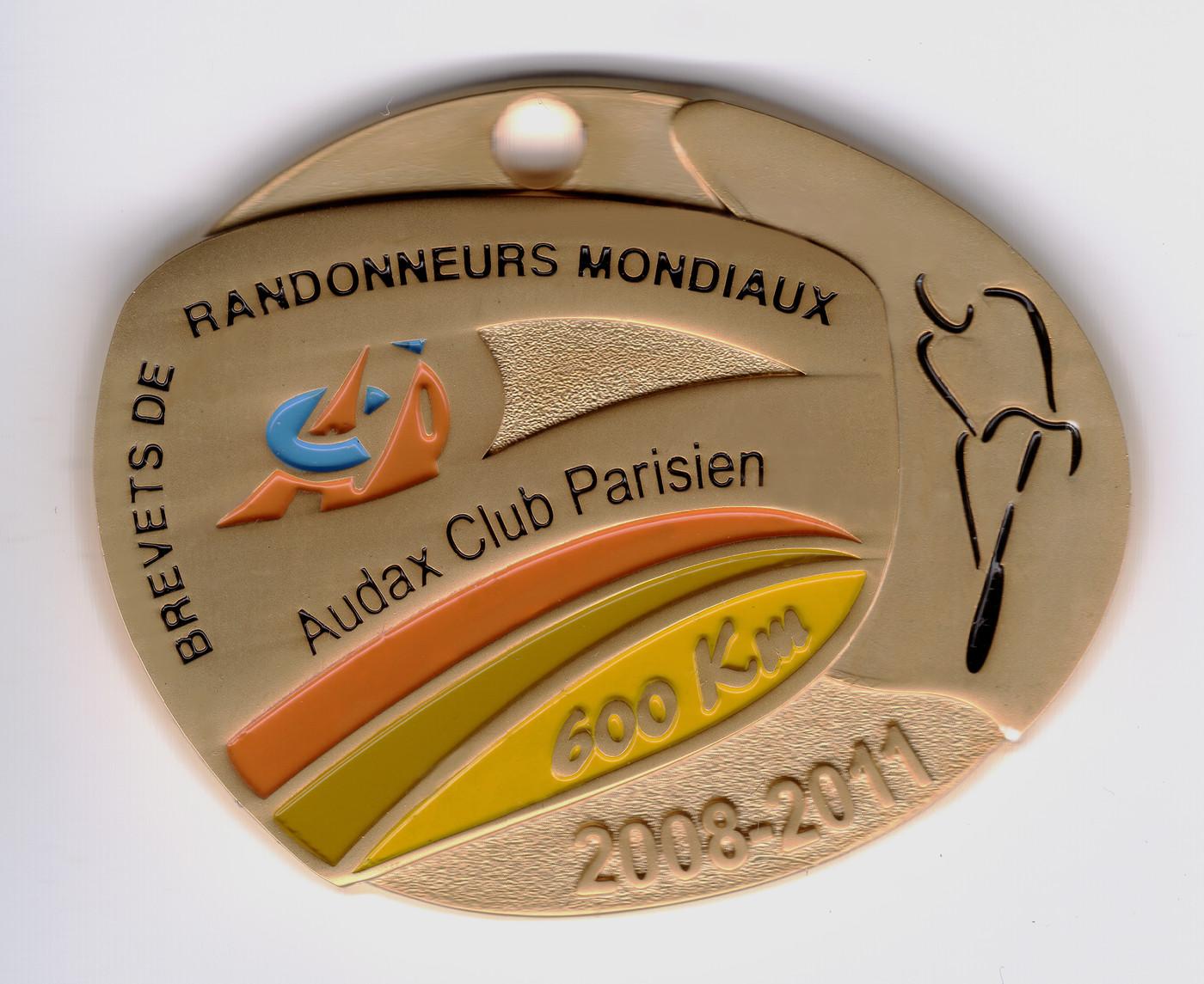 Medaille 600km