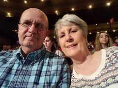 2016-03-26 - Ray & Gail (Selfie) waiting for show to start.