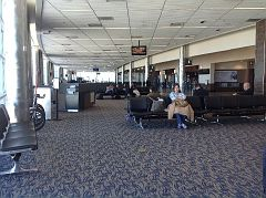 Waiting lounge, Rick Husband International Airport, Amarillo, Potter County, Texas, 1, APR 2016