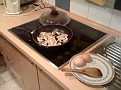 Thursday September 17-09 / AM.  Cooking breakfast at the hostel in Vilnius, Lithuania.  2 eggs / mushrooms / onions, etc.  Powering up for a full day!!!