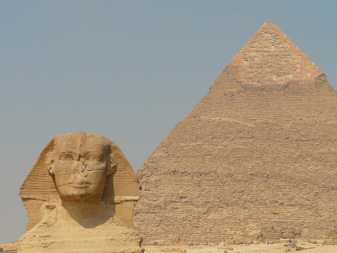 Sphinx and Khafre Pyramid Giza