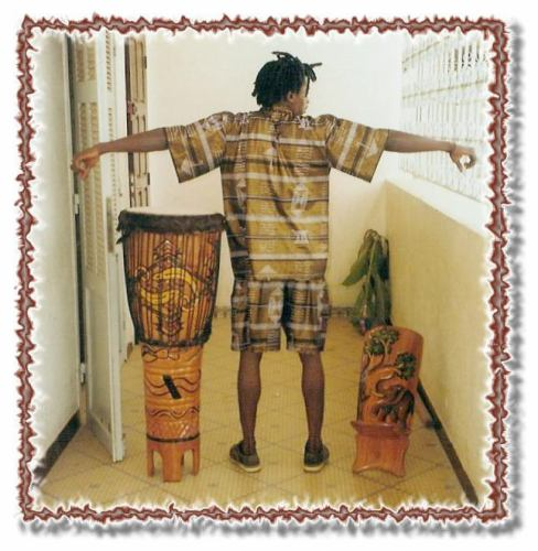 ack View of VIEUX BA in 2pc shorts set! $30 including shipping!  Dan's drum & Brad's Chair!