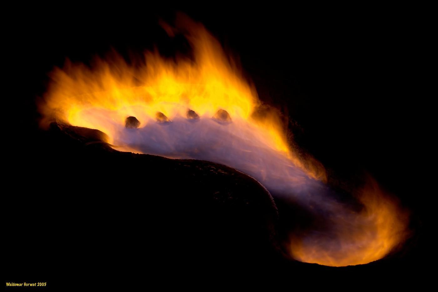 Flaming Footprint