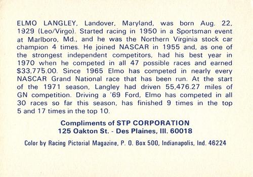 1971 STP Elmo Langley (2)