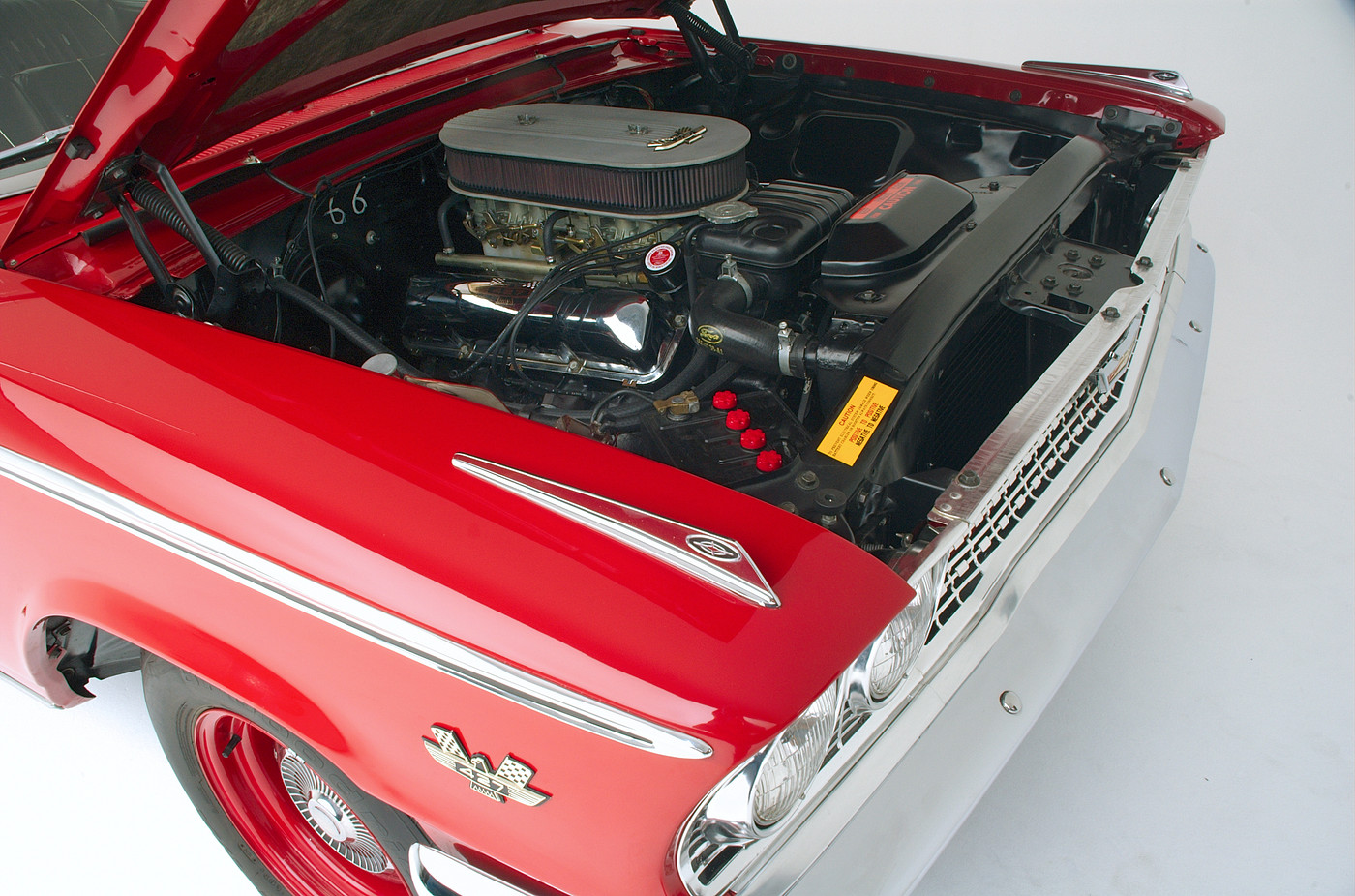 1963 Ford Galaxie 500 XL 427 R-code passenger-side engine compartment view