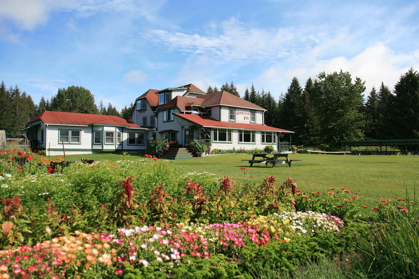 Gustavus Inn lawn
