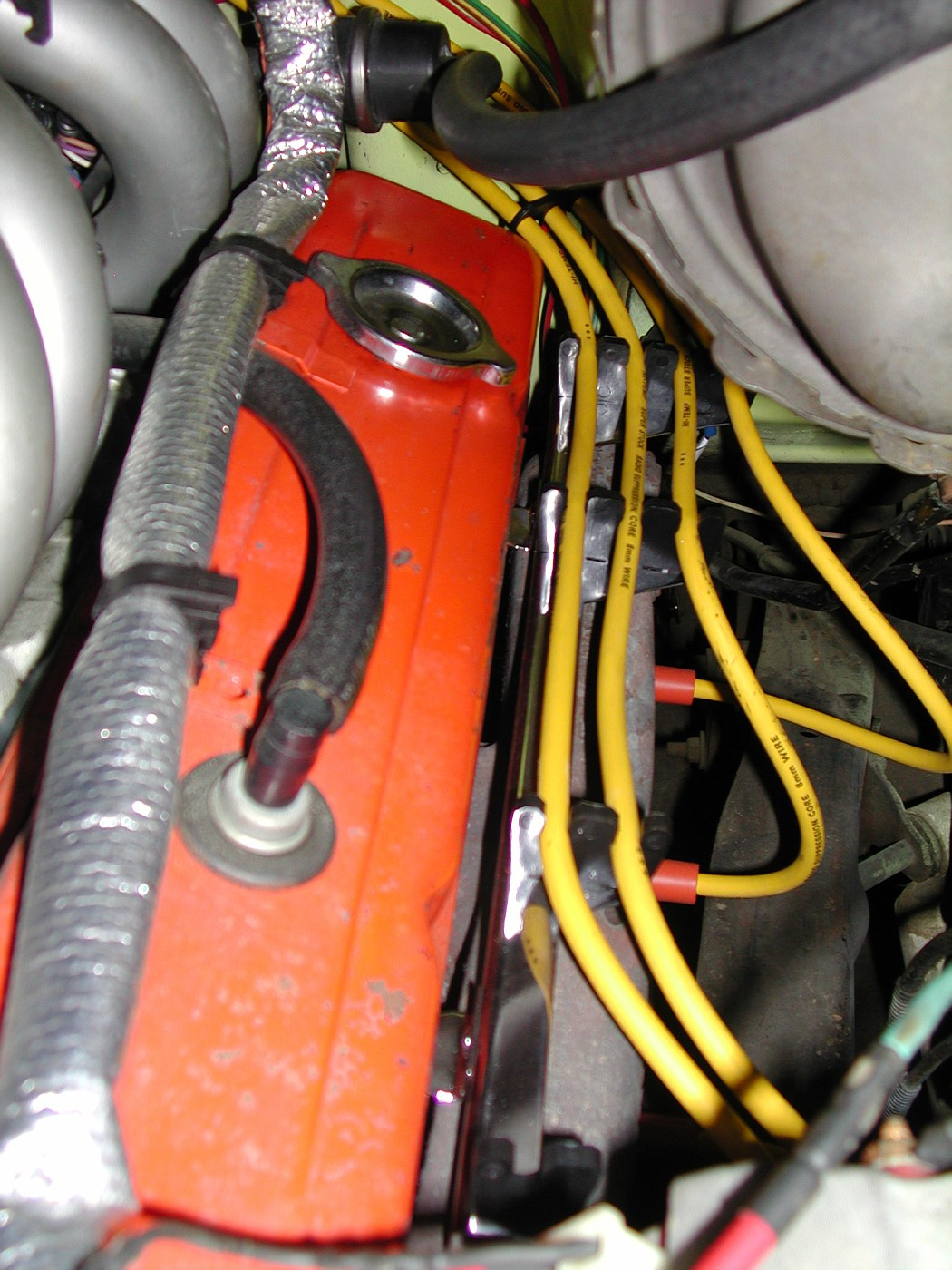Keeping Plug wires off ramhorns   The 40   Present Chevrolet ...