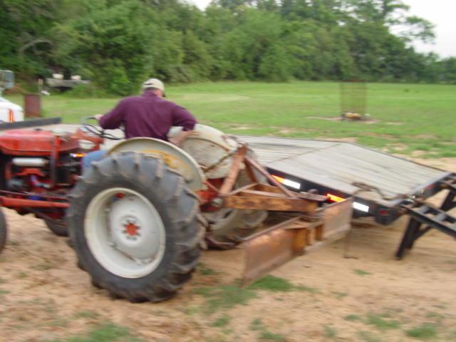 Tractor Broke Down : Loading a broken down tractor yesterday s tractors