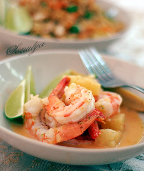shrimp in spicy coconut milk