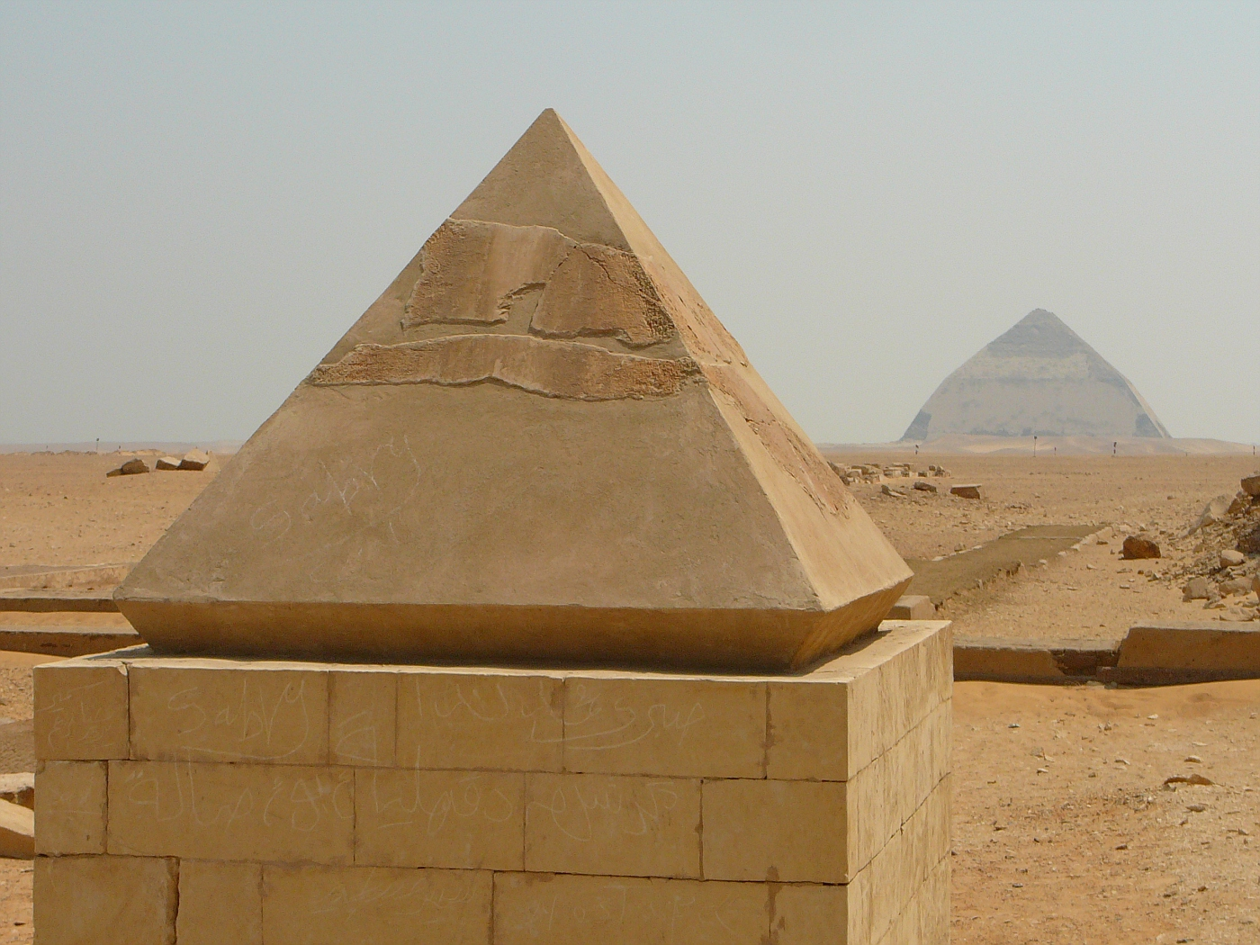 Top of Red Pyramid and Bent Pyramid