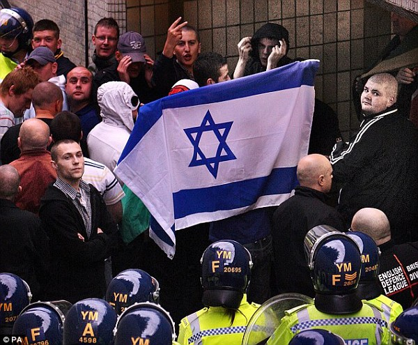 They can hardly be called Fascists with pro-Israel signs