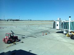 View outside window in waiting room, Rick Husband International Airport, Amarillo, Potter County, Texas, APR 2016