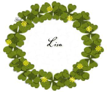Lisa-gailz0309 four leaf clover wreath